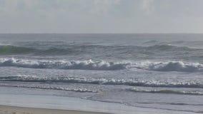 Bij het strand van Elston ` s, het Paradijs van de aka` Surfer ` s, Australische Gouden Kust stock videobeelden