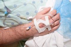 Bij het Ziekenhuis: Intraveneuze Drugs Stock Foto's