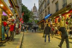 Bij Montmartre-eventide stock fotografie