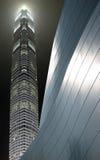 Bij nacht in Hongkong Royalty-vrije Stock Fotografie