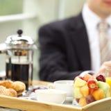 Bij ontbijt Royalty-vrije Stock Foto's