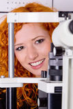 Bij opticien stock fotografie