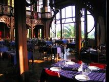 Bij restaurant Stock Foto's