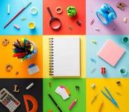 Bij samenvatting bij abstract kleurrijk document Royalty-vrije Stock Fotografie