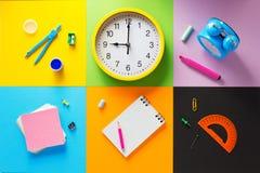 Bij samenvatting bij abstract kleurrijk document Stock Foto's