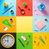 Bij samenvatting bij abstract kleurrijk document Stock Fotografie