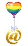 Bij-symbool met ballon Stock Afbeelding