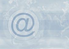 Bij teken op blauwe achtergrond royalty-vrije illustratie
