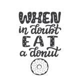 Bij twijfel, eet een doughnut vector illustratie