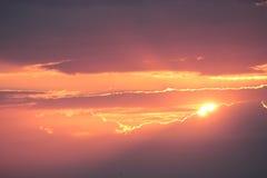 Bij zonsondergang. Royalty-vrije Stock Fotografie