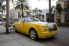 Bijan Pakzad (designer) Celebrity Rolls Royce. Celebrity Rolls Royce Phantom designed by the late Bijan, parked on Rodeo Drive, Beverly Hills, California royalty free stock image