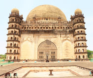 Bijapur Karnataka Indien för för Gol gumbazslott och mausoleum Arkivbild
