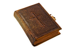 Bijbel met kruis Stock Foto