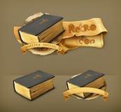 Bijbel, vectorpictogrammen royalty-vrije illustratie