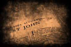 Bijbelnieuw testament St. John royalty-vrije stock afbeelding