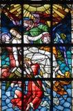 Bijbels Gebrandschilderd glas royalty-vrije stock foto's