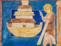 Bijbelse Noah en zijn bak royalty-vrije stock foto's