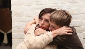 bije rodzinnej męża przemoc żony fotografia stock