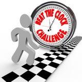 Bije Zegarowego Wyzwania competitionTime Odliczanie ilustracja wektor