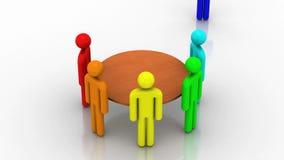Bijeenkomst De grijze 3d achtergrond, geeft terug vector illustratie