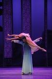 Bijeenkomst van Verrijzenis - De derde handeling van de gebeurtenissen van dans drama-Shawan van het verleden stock fotografie