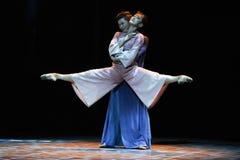 Bijeenkomst van Verrijzenis - De derde handeling van de gebeurtenissen van dans drama-Shawan van het verleden royalty-vrije stock fotografie