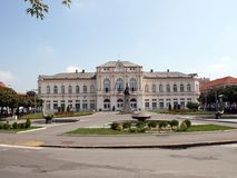 Bijeljina stadshus royaltyfri fotografi