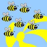 Bijen. Royalty-vrije Stock Afbeelding