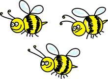 Bijen Royalty-vrije Stock Afbeeldingen