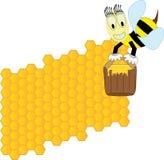 Bijen en honingraat Royalty-vrije Illustratie
