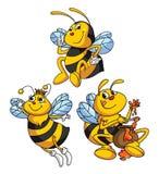 Bijen Grappig Beeldverhaal Stock Afbeeldingen