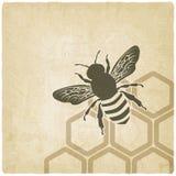 Bijen oude achtergrond vector illustratie