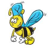 Bijenbeeldverhaal Royalty-vrije Stock Foto's
