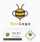Bijenembleem voor honingszaken en producten Stock Fotografie
