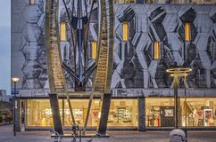 Bijenkorf department sore at twilight royalty free stock photo