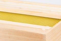 Bijenkorfkaders en stichting in diepe super stock fotografie