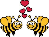 Bijenliefde Stock Afbeeldingen