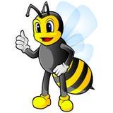 Bijenmascotte royalty-vrije stock foto