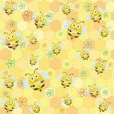 Bijenpatroon stock illustratie