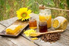 Bijenproducten Stock Afbeelding
