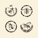 Bijenreeks. Vector vector illustratie