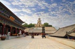 Bijia Jinzhou halny Chiński świątynny architectur zdjęcia stock