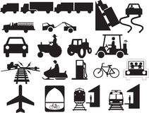 Bijlage aan verkeersteken - auto's en mechanismen Royalty-vrije Stock Afbeelding
