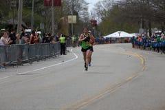 Bijna 30000 agenten namen aan de Marathon van Boston op 17 April, 2017 in Boston deel Royalty-vrije Stock Fotografie