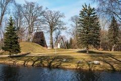 Bijotai, Литва: Baubliai в образе Dionisas Poska Стоковое Изображение