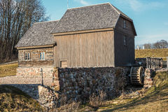 Bijotai, Lithuania: water mill in Dionisas Poska Manner Stock Image
