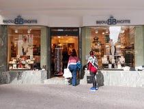 Bijou Brigitte store in Valencia, Spain. VALENCIA, SPAIN - MARCH 3, 2016. People shopping in Bijou Brigitte store in Valencia, Spain. Bijou Brigitte is a Royalty Free Stock Photos