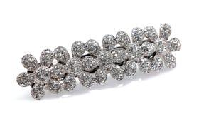 Bijou clouté par diamant de clip de cheveu Photo libre de droits