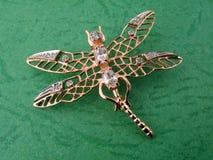 bijou d'or de libellule Image libre de droits