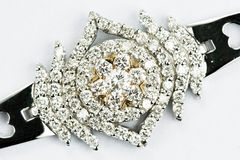 bijou de diamant de l'or 18k Images libres de droits